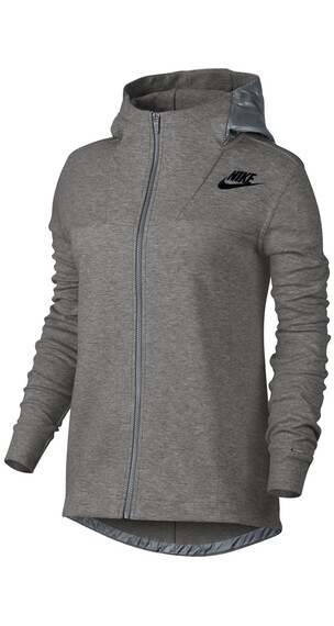 Nike Advance 15 Cape Full Zip Hoodie Women dark grey heather/cool grey/black